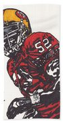 Patrick Willis Beach Towel by Jeremiah Colley