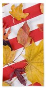 Patriotic Autumn Colors Beach Towel