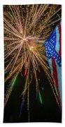 Patriotic Fireworks Beach Towel