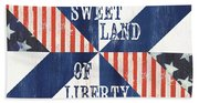 Patriotic Quilt 3 Beach Sheet
