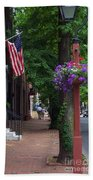 Patriotic Street In Philadelphia Beach Towel
