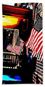 Patriotic Tavern Beach Towel