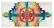 Pattern Art - Color Fusion Design 1 By Sharon Cummings Beach Towel
