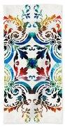 Pattern Art - Color Fusion Design 7 By Sharon Cummings Beach Sheet