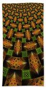 Pattern Brown With Green Beach Towel