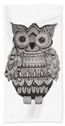 Patterned Owl Beach Towel