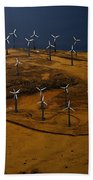 Patterson Pass Wind Farm Beach Towel