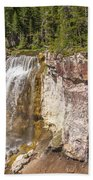 Paulina Creek Falls From The Top Beach Towel