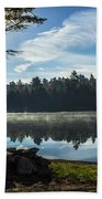 Pauper Lake Morning Beach Towel
