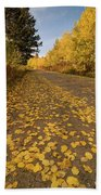 Paved In Gold Beach Towel