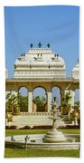 Pavilion And Fountain, Udaipur, India Beach Towel