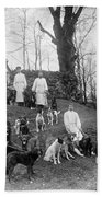 Pavlovs Dogs With Their Keepers, 1904 Beach Towel