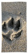 Pawprint In The Sand Beach Towel