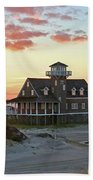 Oregon Inlet Life Saving Station 2687 Pano Signed Beach Towel