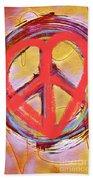 Peace Love  Art Beach Towel