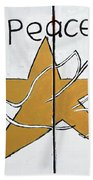 Peace Star Beach Towel