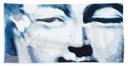 Peaceful Buddha 2- Art By Linda Woods Beach Towel