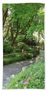 Peaceful Garden Path Beach Towel