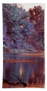 Peaceful In Infrared No2 Beach Towel