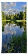 Peaceful Morning In Grand Teton Np Beach Towel