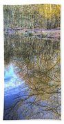 Peaceful Pond Reflections  Beach Towel
