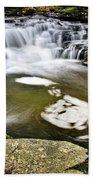 Peaceful Pool Waterfall Beach Towel