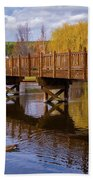 Peaceful Reflections At Drake Park Beach Towel