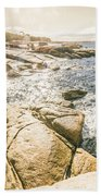 Peaceful Sun Flared Australian Coastline Beach Towel