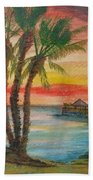Peaceful Sunset Beach Towel