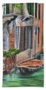 Peaceful Venice Canal Beach Towel