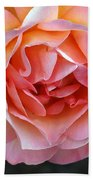 Peachy Rose Beach Towel