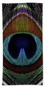Peacock 1 Beach Towel
