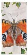 Peacock Butterfly-jp3878 Beach Towel