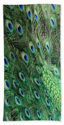Peacock Feather Pattern Beach Towel