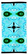 Peacock Feathers Abstract Beach Towel