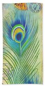 Peacock Feathers-jp3609 Beach Towel
