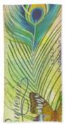 Peacock Feathers-jp3610 Beach Towel
