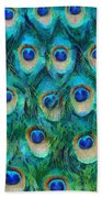 Peacock Feathers Beach Towel by Nikki Marie Smith