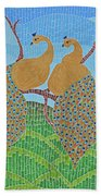 Peacock Love Beach Towel