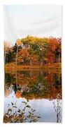 Peak Autumn Reflection 7 Beach Towel