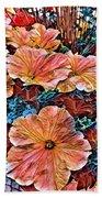 Peanies Flower Blossom Beach Towel