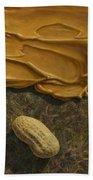 Peanut Butter And Peanuts Beach Towel