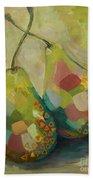 Pears A La Klimt Beach Towel