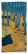 Peasants Gathered In A Sacred Wood_ Beach Towel