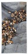 Pebble Beach Rocks 8787 Beach Towel