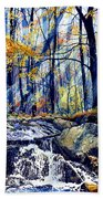 Pebble Creek Autumn Beach Towel