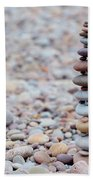 Pebble Stack II Beach Towel