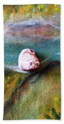 Pebbles At  The Stream Beach Towel by Augusta Stylianou