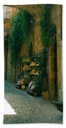 Pedestrian Walkway, Orvieto, Umbria Beach Towel