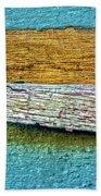 Peeling Paint Bird Beach Towel